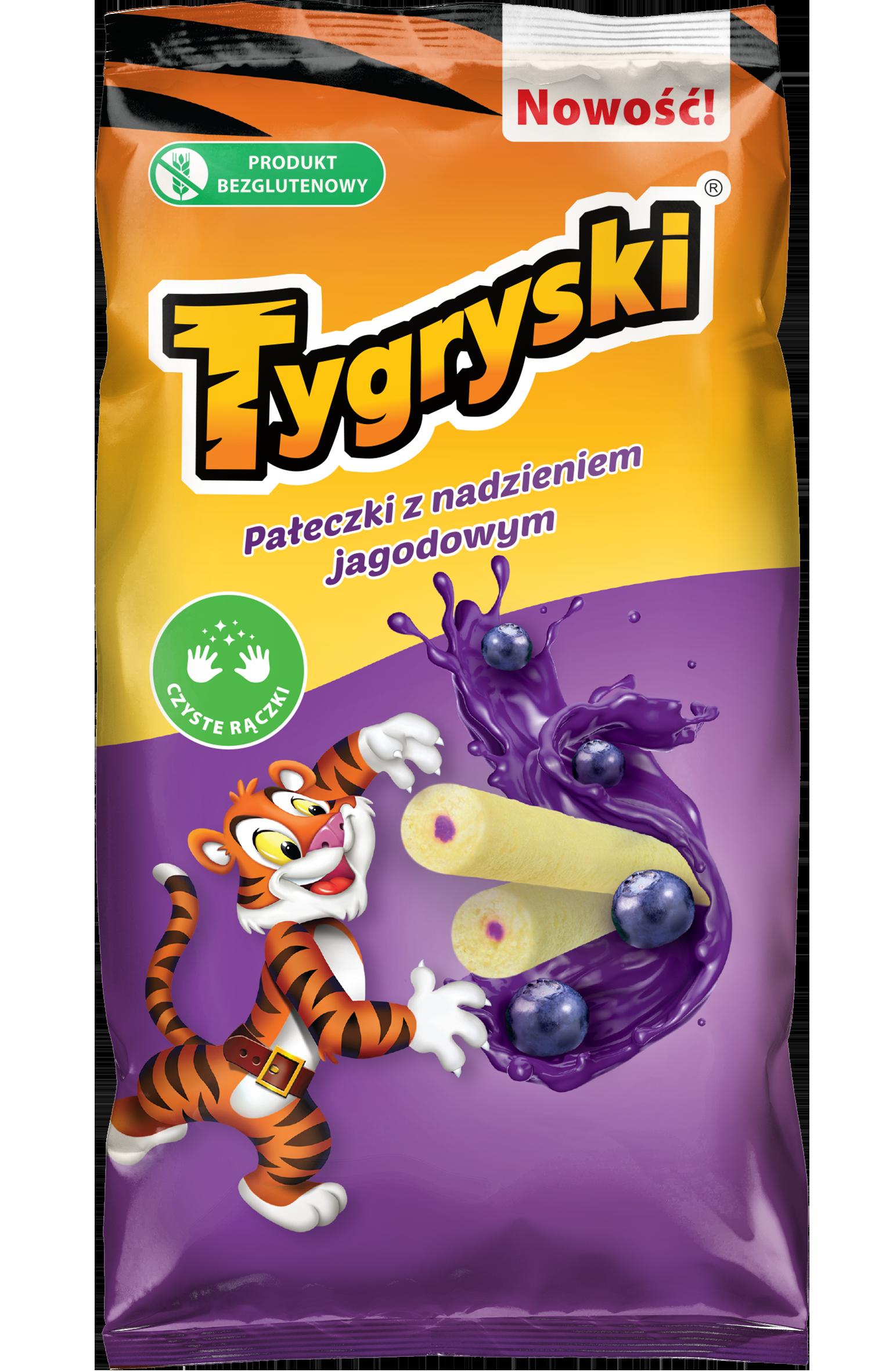 Palos de maíz tigres con relleno de bayas