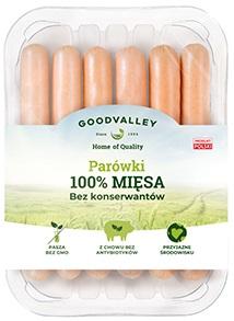 Goodvalley Parówki 100% mięsa bez konserwantów