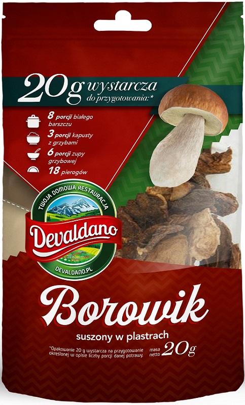 Devaldano Borowik suszony  w plastrach