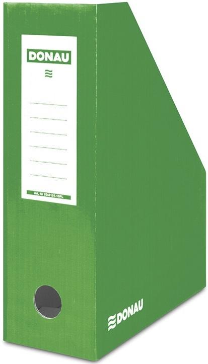 Donau Pojemnik na dokumenty , karton, A4/100mm, lakierowany, zielony