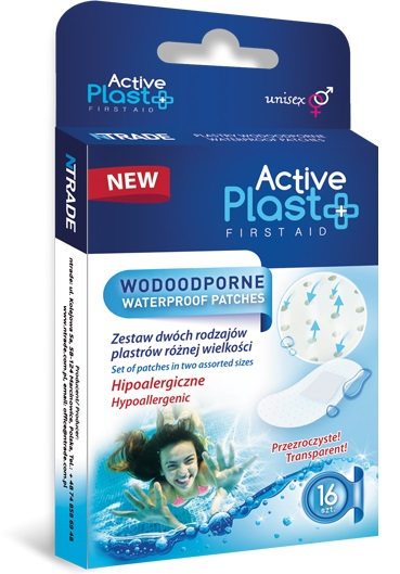 Active Plast First Aid Water-resistant plasters