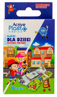 Active Plast First Aid Plastry  dla dzieci