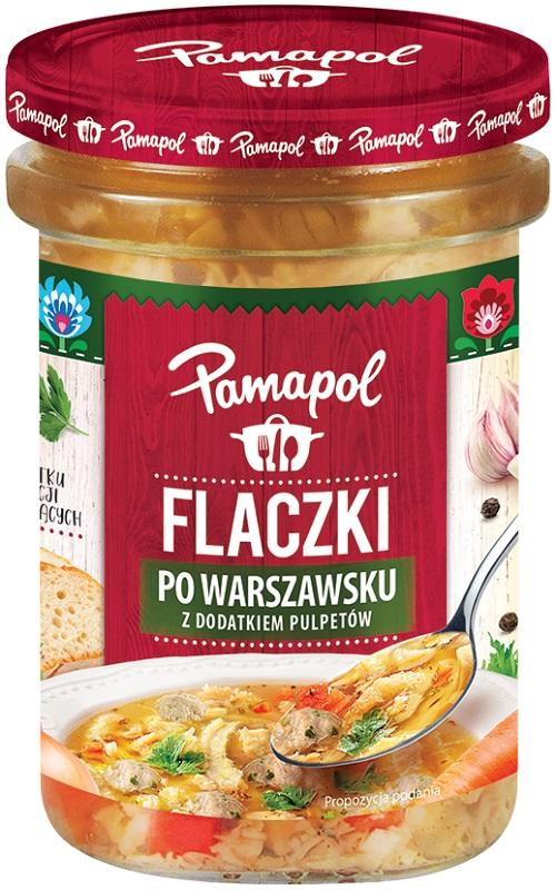 Памаполь Flaczki в Варшаве с добавлением фрикадельки