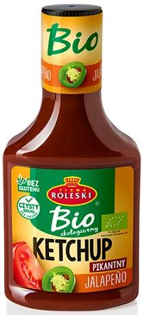 Roleski Ketchup ekologiczny BIO  Jalapeno - pikantny