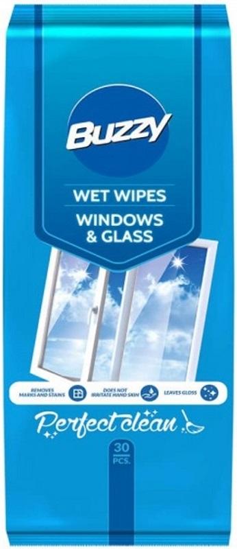 Buzzy Chusteczki nawilżane  do czyszczenia szkła i powierzchni ze szkła