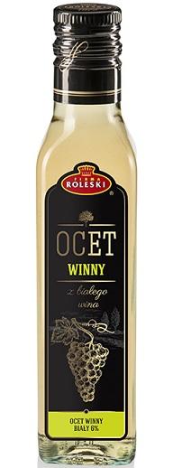 Roleski Ocet winny biały 6%  z białego wina
