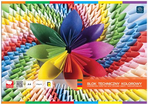 Interdruk Blok techniczny A4 kolorowy