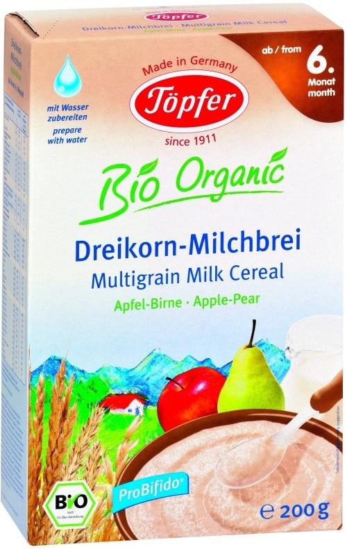 Topfer multiflor de cereales BIO manzana-pera