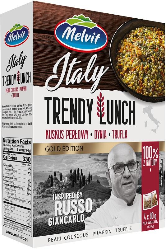 Melvit Trendy Lunch Italy  Kuskus perłowy, dynia, trufla  4 x 80 g