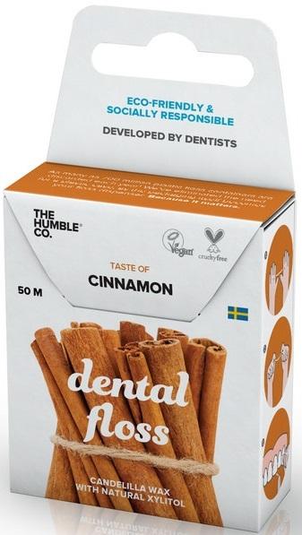 Humble Brush Dental Floss Dental 50m con sabor a canela