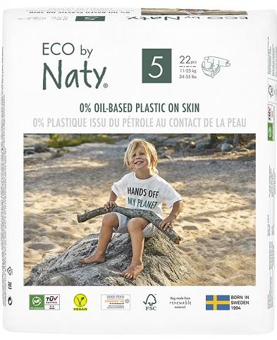 Naty ekologiczne pieluchy jednorazowe no.5 (11-25kg)