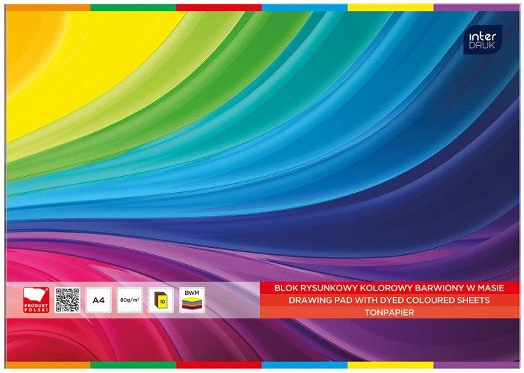 Interdruk Blok rysunkowy A4 kolorowy