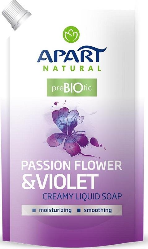 Apart Natural Prebiotic Kremowe  mydło w płynie zapas Passiflora i Fiołek
