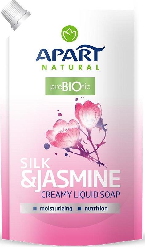 Apart Natural Prebiotic Kremowe  mydło w płynie zapas Jedwab&Jaśmin