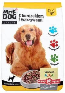 Mr Dog Karma pełnoporcjowa sucha z kurczakiem i warzywami dla dorosłych psów  średnich i dużych ras