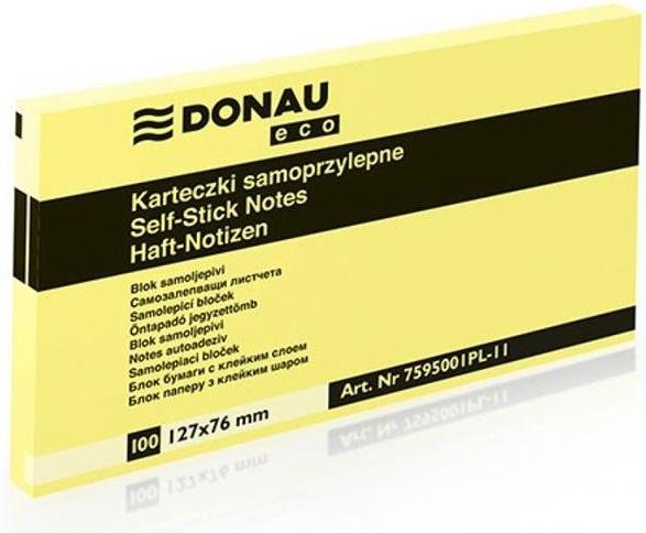 Notas adhesivas autoadhesivas Donau en un bloque de 127x76 mm.