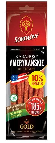 Sokołów Gold Kabanosy amerykańskie