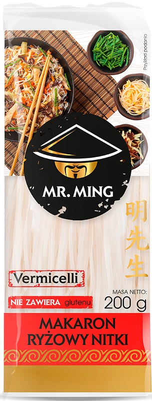 Mr. Ming Makaron ryżowy nitki bezglutenowy