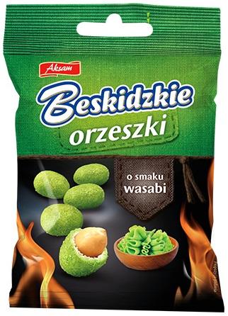 Aksam Beskidzkie Orzeszki w cieście o smaku wasabi