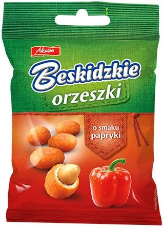 Aksam Beskidzkie Orzeszki w cieście o smaku papryki