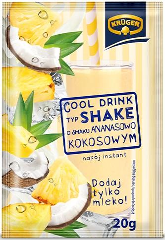 Krüger Cool Drink typ Shake napój instant o smaku ananasowo-kokosowym
