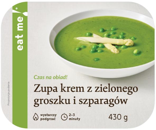 Eat Me Zupa krem z zielonego groszku i szparagów