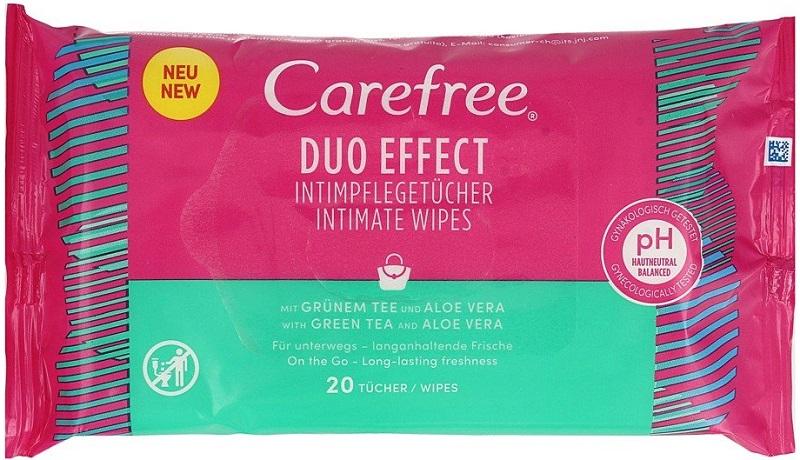 Беззаботные интимные гигиенические салфетки с эффектом Aloe Duo