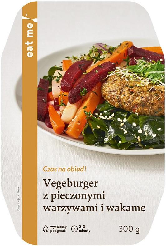 Eat Me Vegeburger z pieczonymi warzywami i wakame
