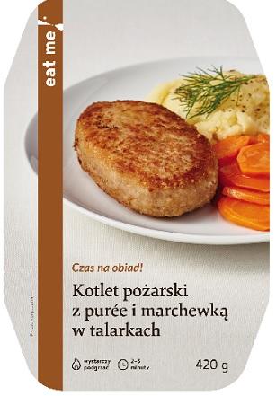 Eat Me Kotlet Pożarski z Puree i Marchewką w talarkach