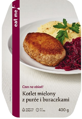 Eat Me Ground Cutlet with Mashed Potatoes and Beets