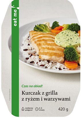 Eat Me Grilled Chicken with Rice and Vegetables