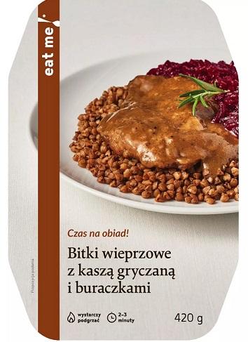 Eat Me Bitki Wieprzowe z Kaszą Gryczaną i Buraczkami