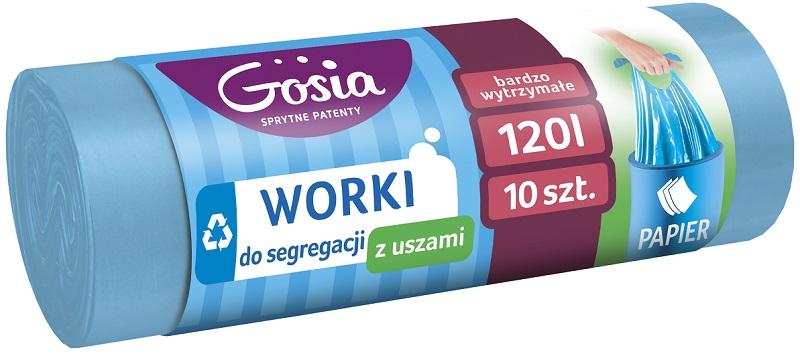 Gosia Мешки для мусора с ушками 100 л. Бумага