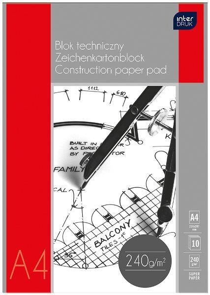 Interdruk Blok techniczny A4  biały