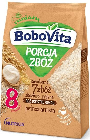 BoboVita Porcja Zbóż kaszka bezmleczna 7 zbóż zbożowo-jaglana