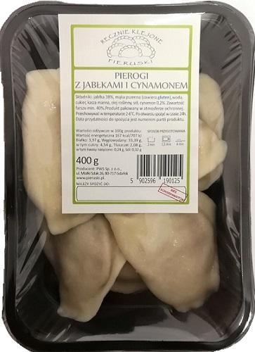 Pieruski Pierogi z jabłkami  i cynamonem ręcznie klejone