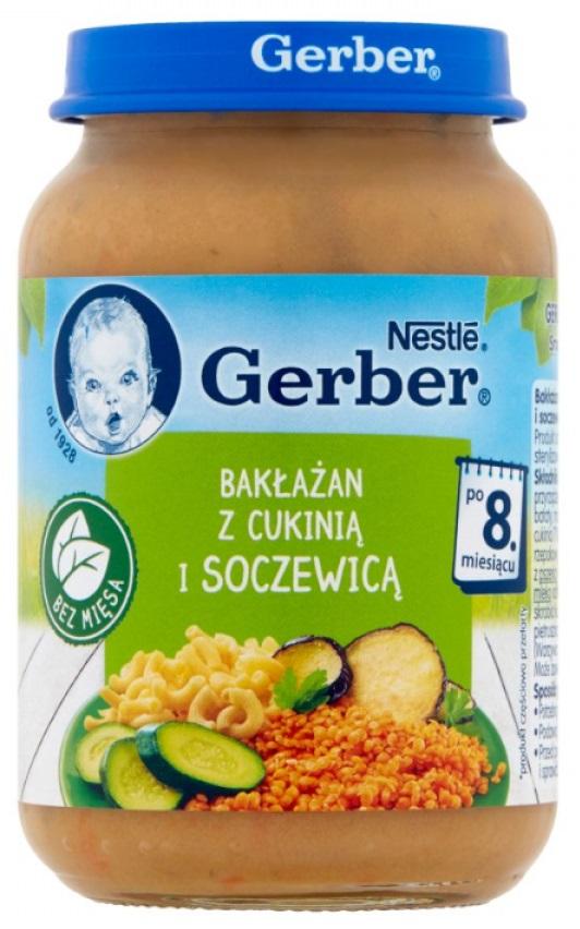 Gerber Bakłażan z cukinią  i soczewicą