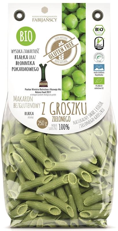 Fabijańscy makaron z groszku zielonego rurka BIO
