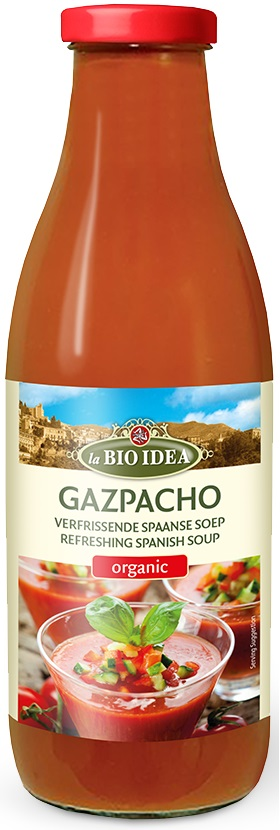 La Bio Idea Gazpacho BIO Hiszpańska Zupa Pomidorowa z ogórkiem i papryką