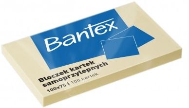 Bantex Karteczki samoprzylepne w bloczku 100x75 mm