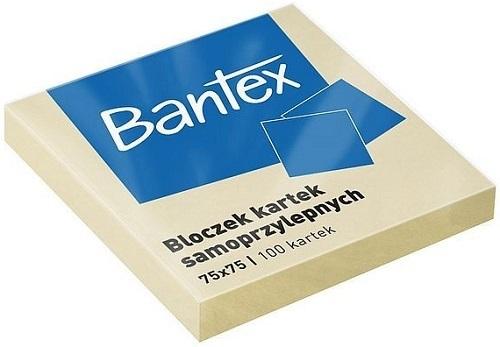 Bantex Karteczki samoprzylepne w bloczku 75x75 mm