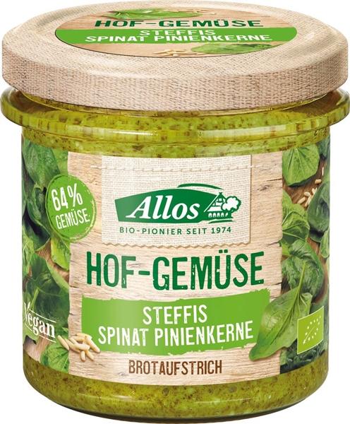 Allos Pasta warzywna ze szpinakiem  i orzeszkami piniowymi bezglutenowa BIO