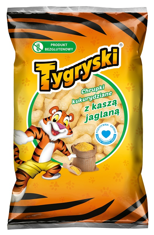 Tygryski chrupki kukurydziane z kaszą jaglaną