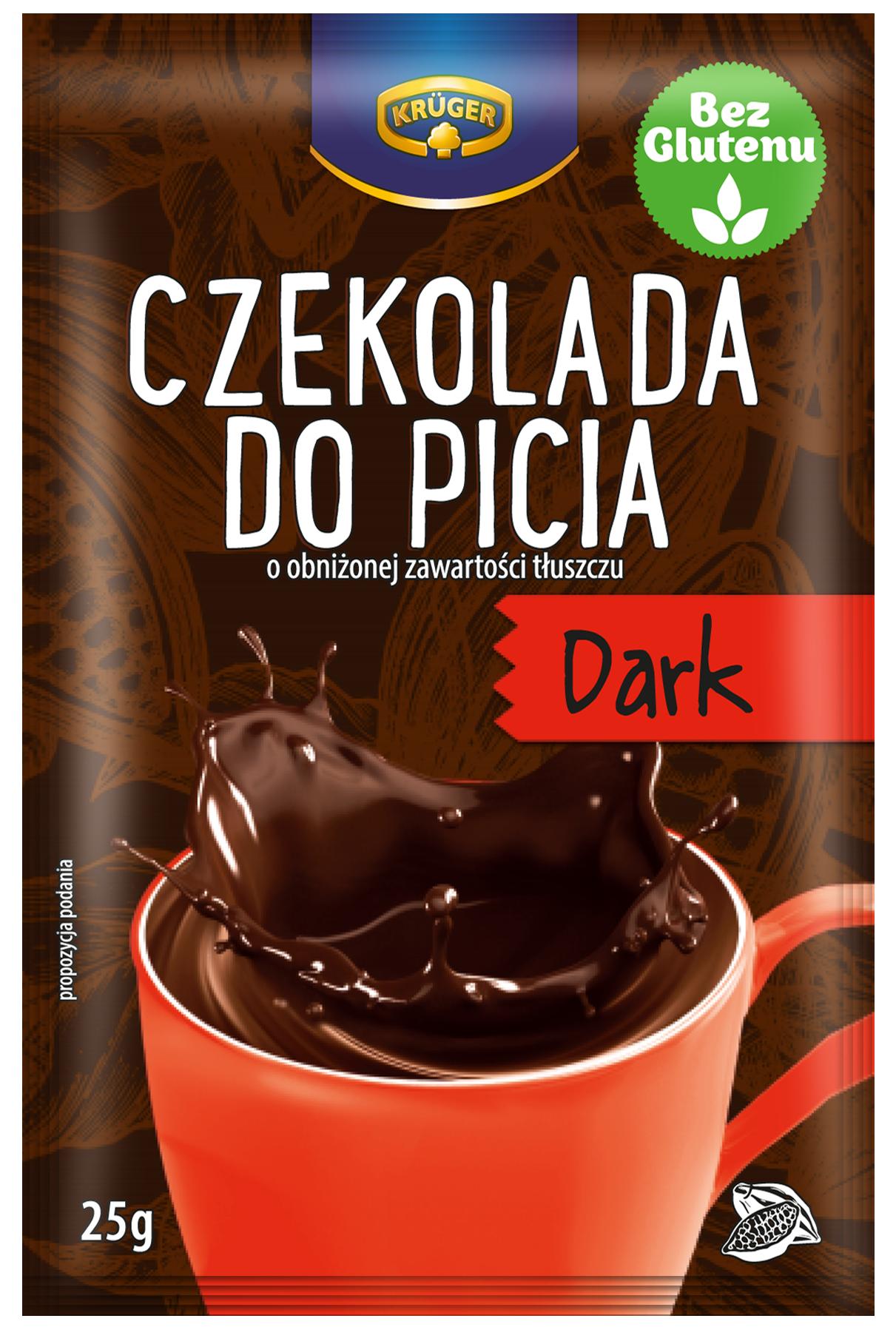 Czekolada do picia Dark o obniżonej zawartości tłuszczu