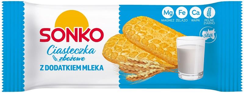 Sonko Ciasteczka zbożowe  z dodatkiem mleka