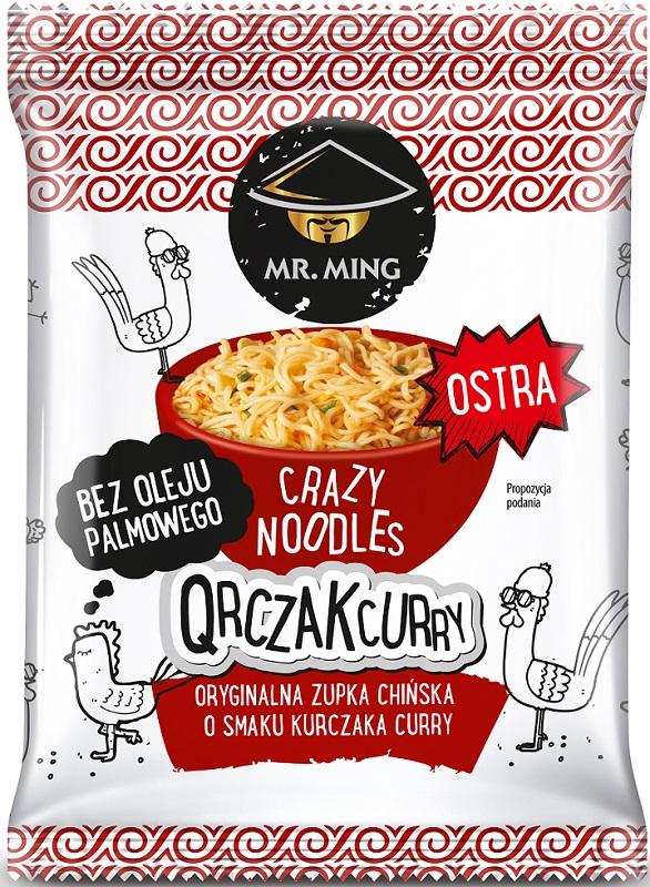 Mr. Ming Zupka chińska crazy noodle Qurczak Curry ostra bez oleju palmowego
