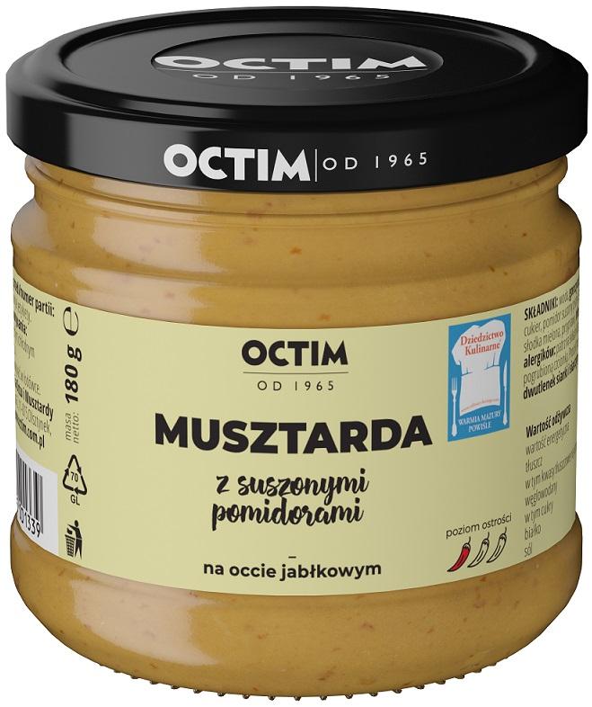 Octim Musztarda z suszonymi pomidorami na occie jabłkowym