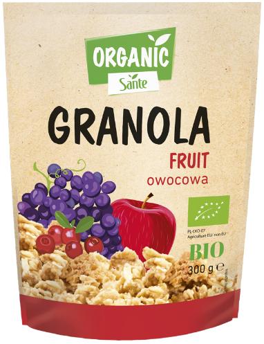 Sante Granola Organic z owocami BIO
