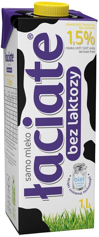 Łaciate mleko UHT 1,5% bez laktozy