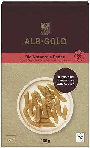 ALB GOLD makaron ryżowy razowy penne bezglutenowy BIO